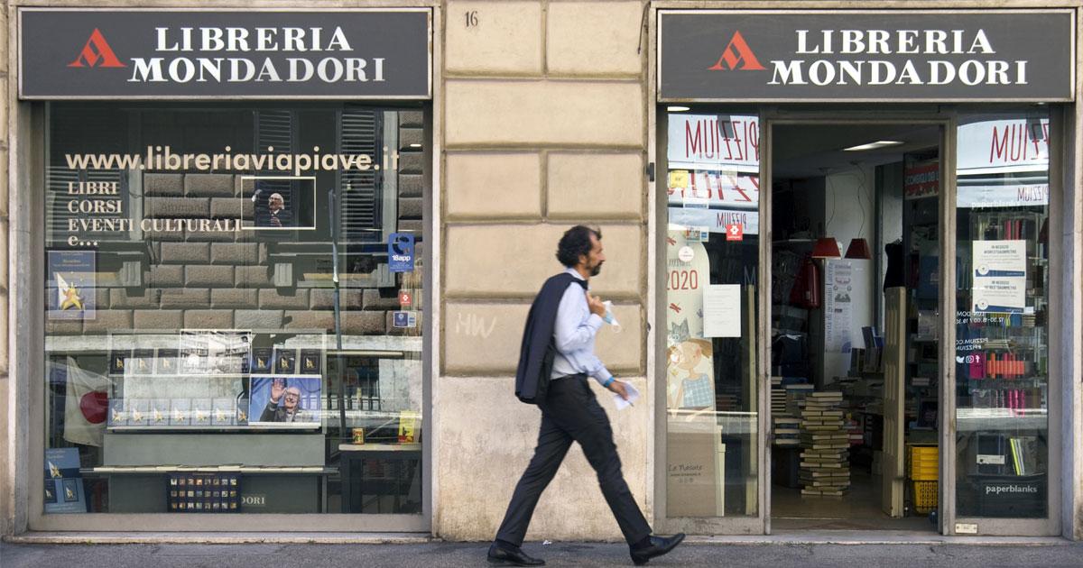 Esterno della libreria via Piave