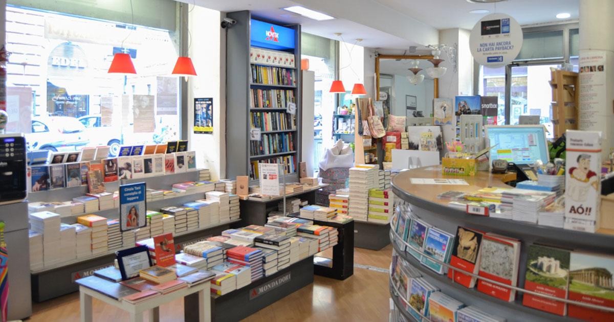 Interno della libreria via Piave